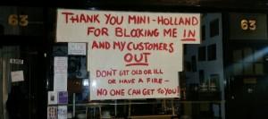 mini holland protest