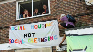Councils and property developers are openly conspiring to move people out of their homes in London in a land grab