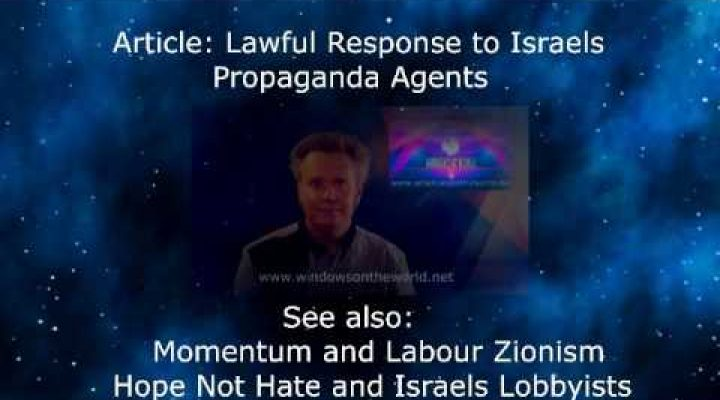 Lawful Response to Israels Propaganda Agents
