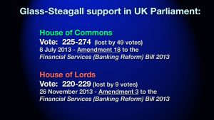 Glass-Steagall (House of Commons and Lords) 2013 Amendments