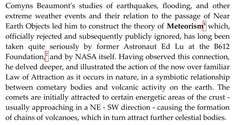 Comyns Beaumont on Comets